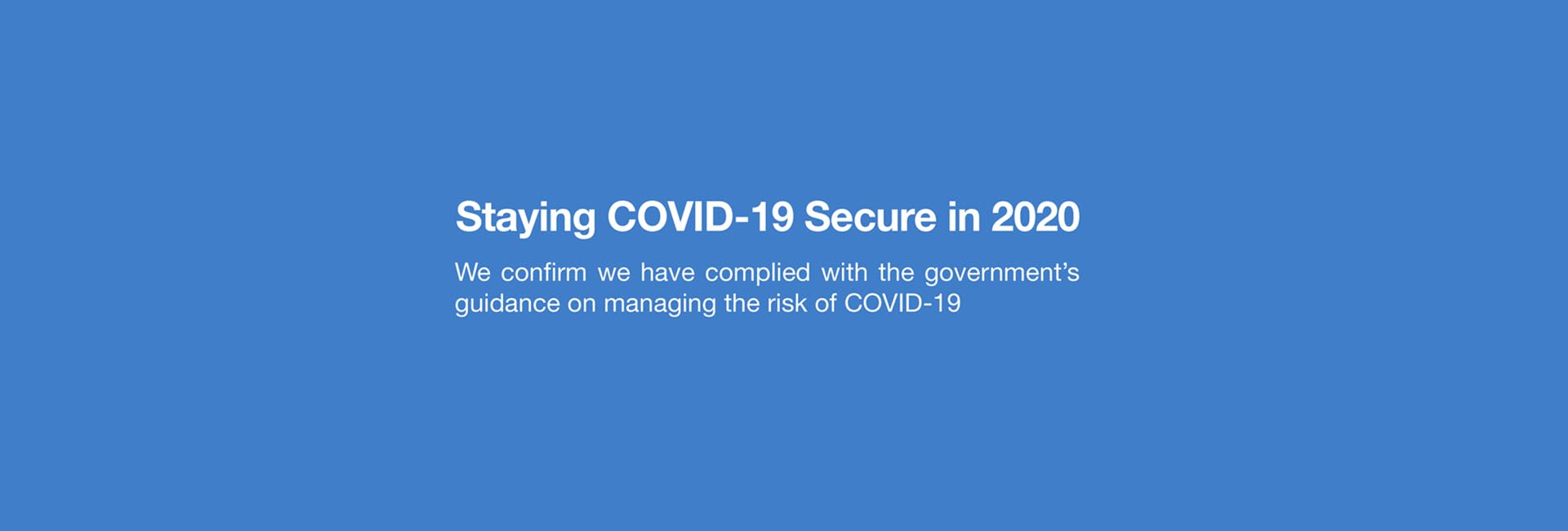 staying covid 19 secure WEB BANNER
